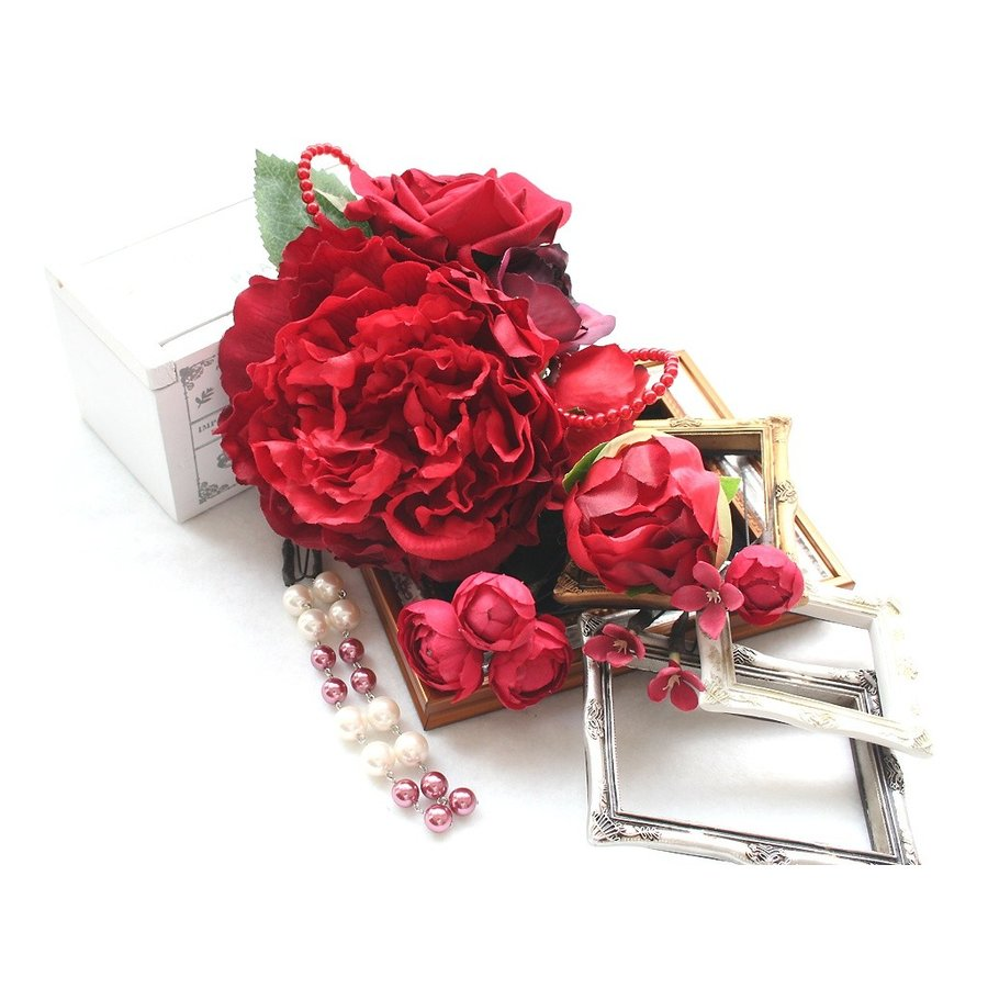 舞妓牡丹とバラのパーツセット(11パーツ):HA042 vertpalette-store