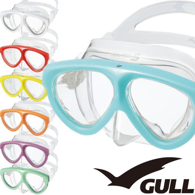 【 送料無料 】 GULL ガル GM-1035 マンティス 5 シリコン マスク ダイビング クリアシリコン