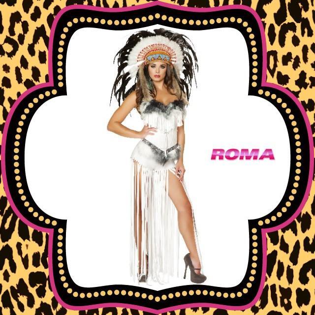 コスプレ 衣装 ROMA COSTUME ローマ RM 4476 インディアン 2点セット OF50 正規品 ハロウィン 仮装 コスチューム