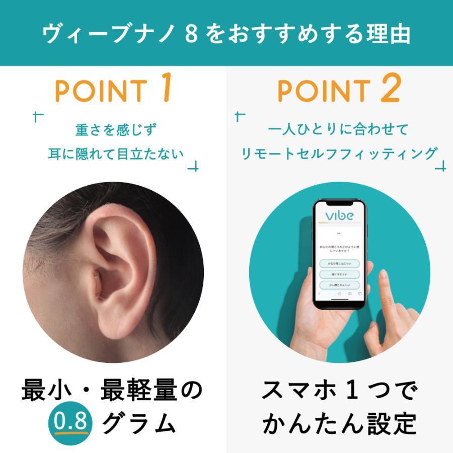 補聴器 一人ひとりに最適な音をお届け ヴィーブ ナノ8 左耳用 Vibe Nano8 最小 最軽量 小さい 目立たない 耳あな型 フィッティング|vibe-japan|02