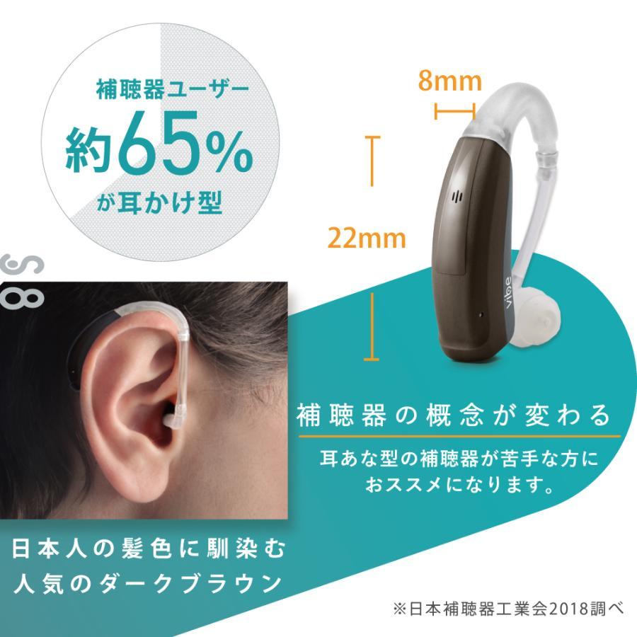 補聴器 一人ひとりに最適な音をお届け ヴィーブ エス8 左右兼用 Vibe S8 スマートボディ ブラウン 目立たない 耳かけ型 フィッティング vibe-japan 04