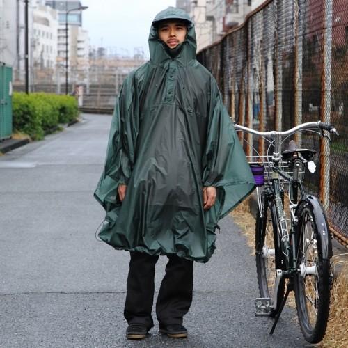 フェアウェザー FAIRWEATHER Packable Rain Poncho Algae パッカブルレインポンチョ
