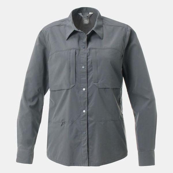 マウンテンハードウェア MOUNTAIN HARDWEAR Canyon Pro Long Sleeve Shirt Graphite キャニオンプロロングスリーブシャツ ストレッチ 長袖 レディース