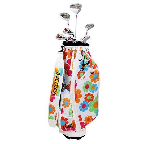 ラウドマウス(LOUDMOUTH) ゴルフクラブセットレディース 7本セット(DR,FW,UT,#7,#9,SW,PT) LM-LS2018 Cathy 150 Magic Bus 白い (Lady's)