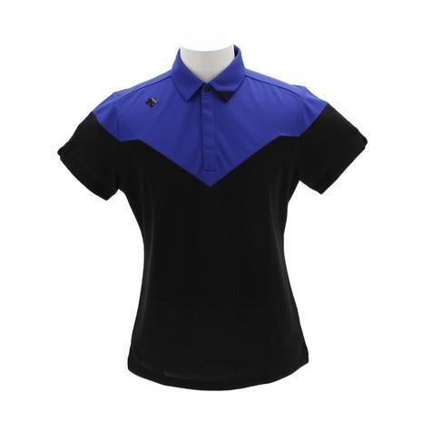 デサントゴルフ(DESCENTEGOLF) ゴルフウェア メンズ アクセンシャルゼブラカノコ 半袖ポロシャツ DGMNJA11-BK00 (Men's)