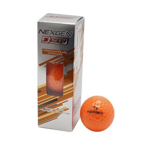 ゴルフ ボール NB-191 3個入り D-SPEC Pオレンジ (メンズ)