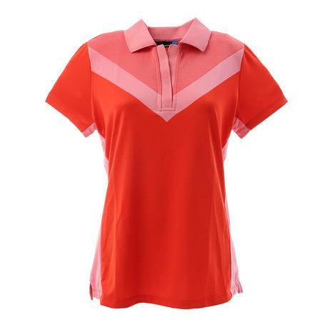 Jリンドバーグ(J.LINDEBERG) Lilly-TX Jaquard 半袖ポロシャツ 072-21940-063 (Lady's)