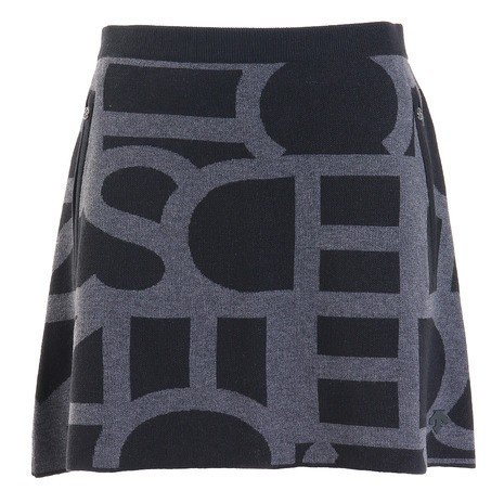 デサントゴルフ(DESCENTEGOLF) タイポグラフィポリエステルウールジャカードスカート DGWOJE02-BK00 (Lady's)