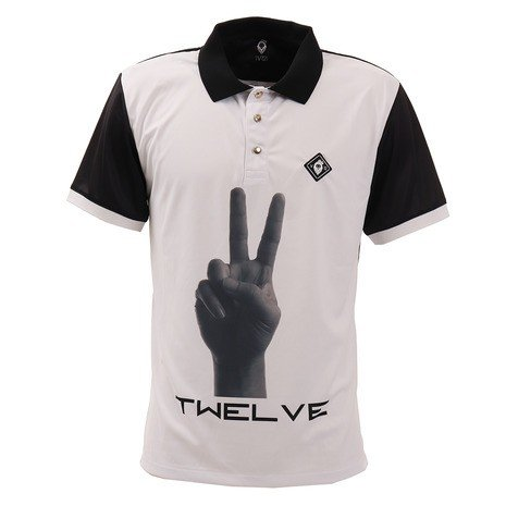 V12 ゴルフウェア メンズ PIECE 半袖ポロシャツ V121910-CT17-BLK (Men's)