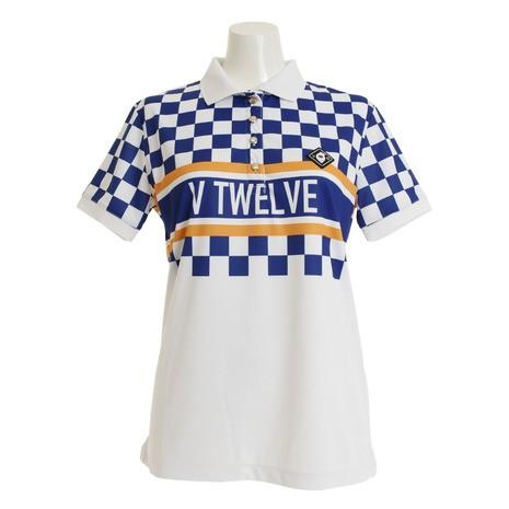 V12 ゴルフウェア レディース VIOR 半袖ポロシャツ V121910L-CT13-NVY (Lady's)