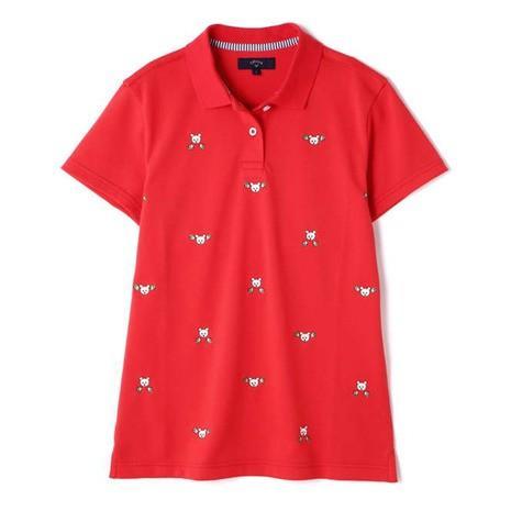 キャロウェイ(CALLAWAY) ゴルフウェア レディース 19L B刺繍ダブル鹿の子ポロシャツ 241-9151828-100 (Lady's)