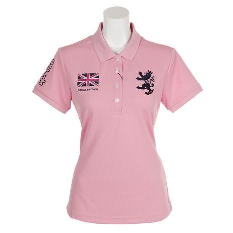 アドミラル(Admiral) ゴルフウェア レディース フラッグ 半袖ポロシャツ ADLA957-PNK (Lady's)