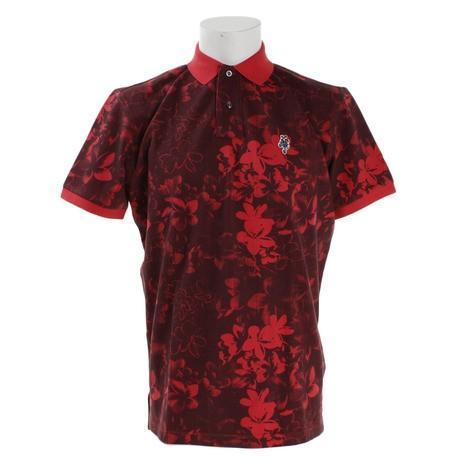 ジェッカーソン(Jackson) ゴルフウェア メンズ フラワーポロシャツ J030035 赤 (Men's)