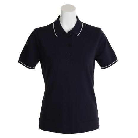 アジェイド(AJADE) 半袖ニットポロシャツ SESS1912 NVY (Lady's)