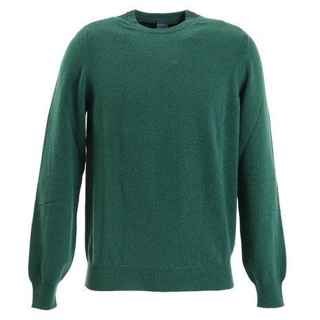 FEDELI カシミヤクルーセーター ARG SLIM ML CASHMERE-SPRUCE (Men's)
