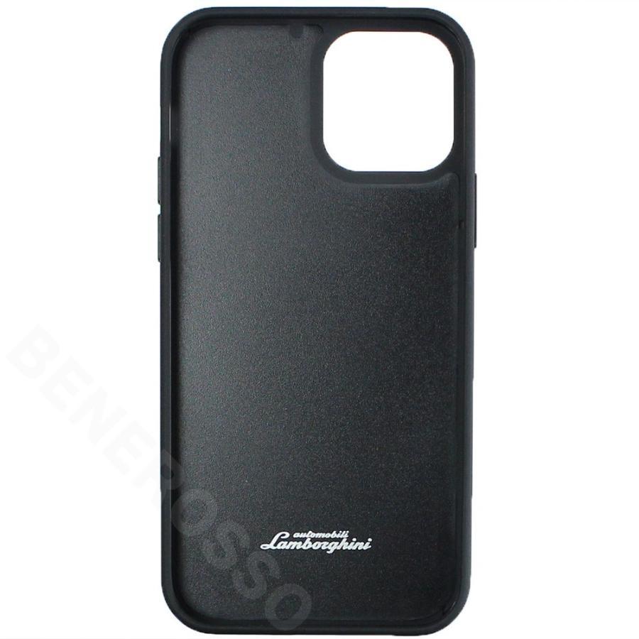 ランボルギーニ iPhone12/12 Pro レザー&アルカンターラ バックカバー ウラカン D11 ブラック LB-TPUPCIP12P-HU/D11-BK victorylap 02