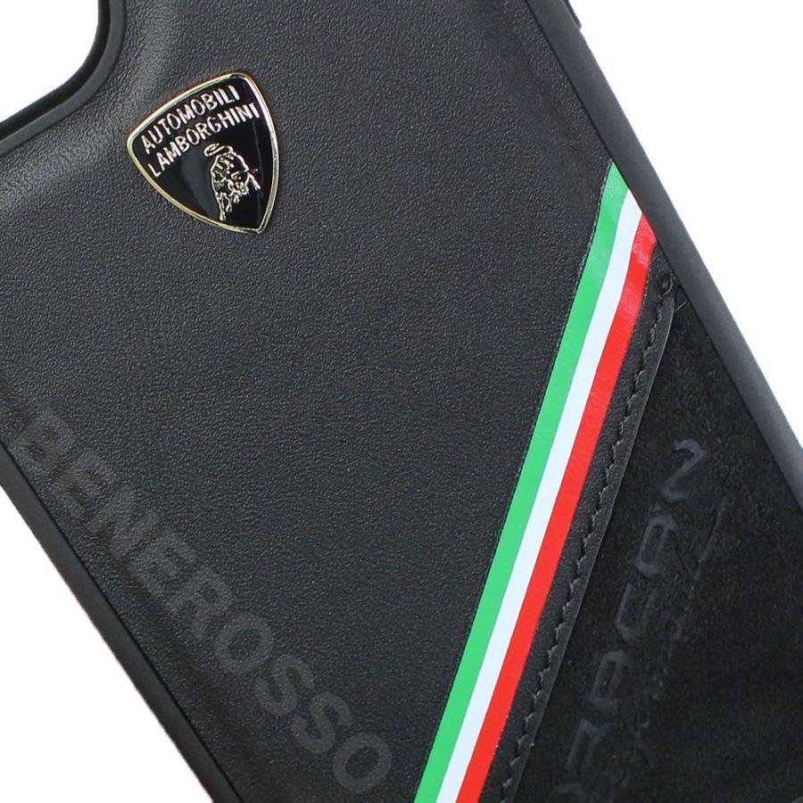 ランボルギーニ iPhone12/12 Pro レザー&アルカンターラ バックカバー ウラカン D11 ブラック LB-TPUPCIP12P-HU/D11-BK victorylap 03