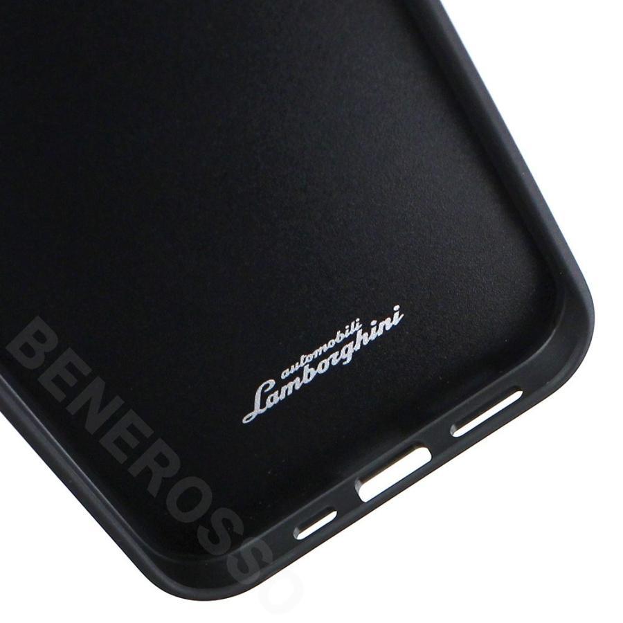 ランボルギーニ iPhone12/12 Pro レザー&アルカンターラ バックカバー ウラカン D11 ブラック LB-TPUPCIP12P-HU/D11-BK victorylap 05