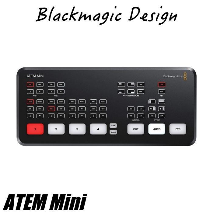 在庫あり ATEM Mini Blackmagic Design ブラックマジックデザイン ライブプロダクションスイッチャー  SWATEMMINI ライブ配信 YouTube Facebook TwitchTV|videoallcam