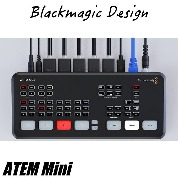 在庫あり ATEM Mini Blackmagic Design ブラックマジックデザイン ライブプロダクションスイッチャー  SWATEMMINI ライブ配信 YouTube Facebook TwitchTV|videoallcam|02
