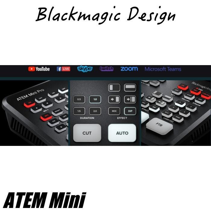 在庫あり ATEM Mini Blackmagic Design ブラックマジックデザイン ライブプロダクションスイッチャー  SWATEMMINI ライブ配信 YouTube Facebook TwitchTV|videoallcam|03