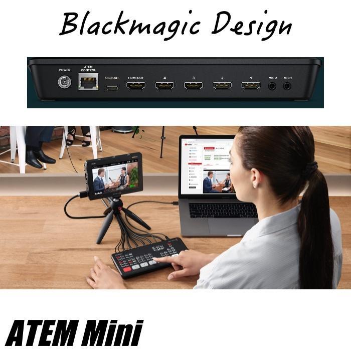 在庫あり ATEM Mini Blackmagic Design ブラックマジックデザイン ライブプロダクションスイッチャー  SWATEMMINI ライブ配信 YouTube Facebook TwitchTV|videoallcam|04