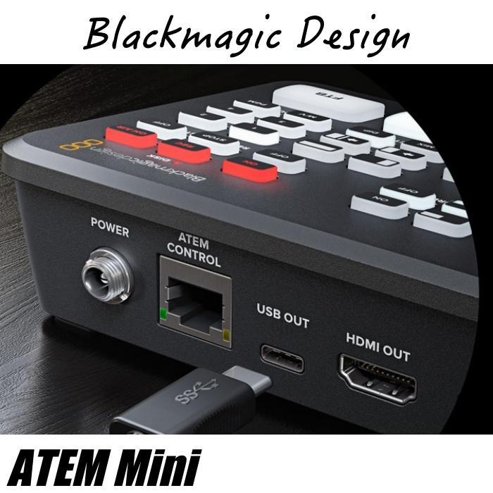 在庫あり ATEM Mini Blackmagic Design ブラックマジックデザイン ライブプロダクションスイッチャー  SWATEMMINI ライブ配信 YouTube Facebook TwitchTV|videoallcam|05