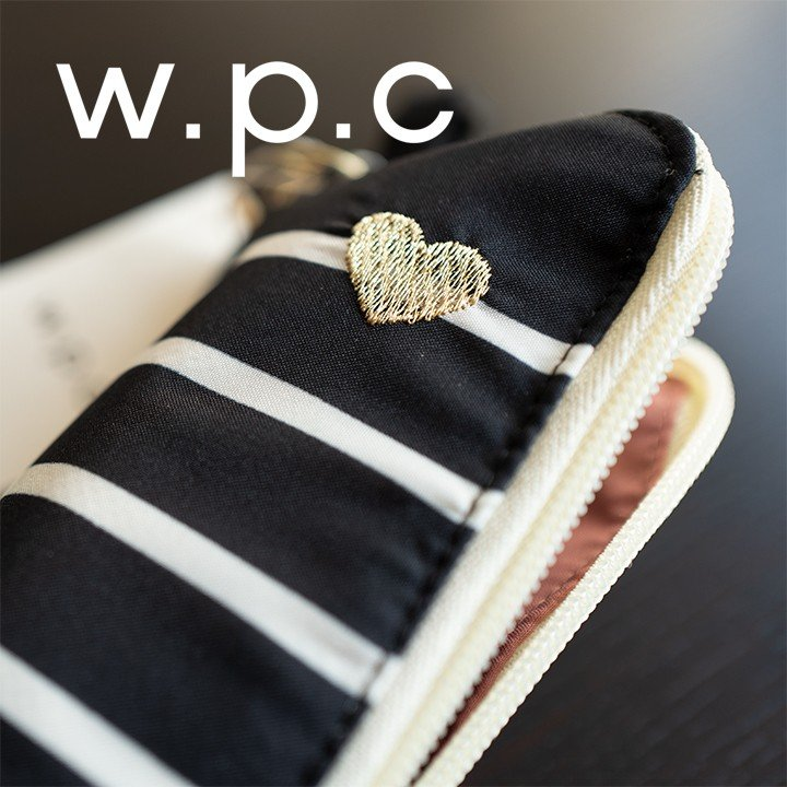 Wpc 折りたたみ傘 軽量 レディース傘 晴雨兼用傘 ハート&ボーダー ミニ ジッパーケース heart & border gold mini Wpc ワールドパーティー 951-128 villagestore 07