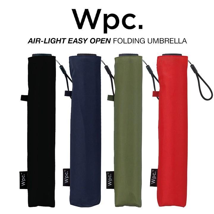 Wpc 折りたたみ傘 軽量 レディース メンズ 男女兼用傘 ポキポキしない エアライト イージーオープン 無地 FOLDING UMBRELLA Wpc ワールドパーティー MSE|villagestore
