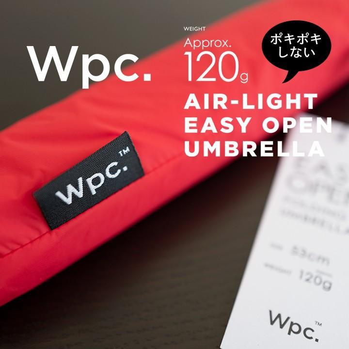Wpc 折りたたみ傘 軽量 レディース メンズ 男女兼用傘 ポキポキしない エアライト イージーオープン 無地 FOLDING UMBRELLA Wpc ワールドパーティー MSE|villagestore|05