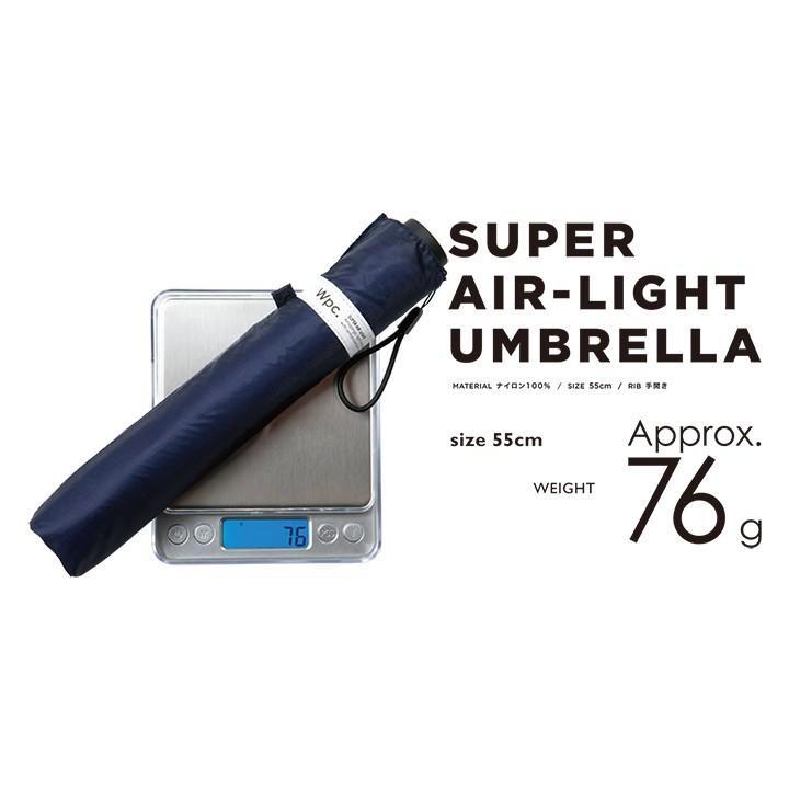 Wpc 折りたたみ傘 超軽量76g レディース メンズ 男女兼用傘 スーパーエアライト 55cm Wpc Super Air-light Umbrella ワールドパーティー MSK55 villagestore 02