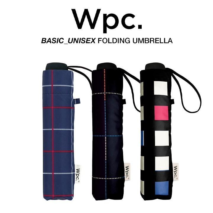 Wpc 折りたたみ傘 軽量 大きい58cm レディース メンズ 男女兼用傘 晴雨兼用傘 チェック柄 BASIC FOLDING UMBRELLA Wpc ワールドパーティー MSM|villagestore