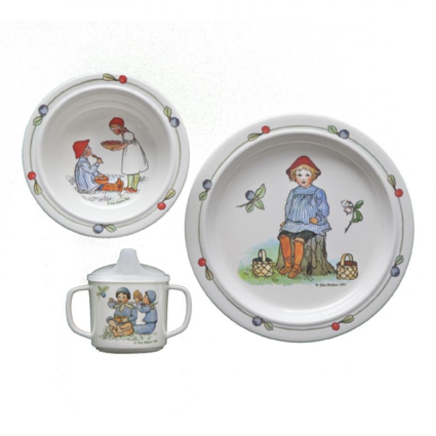 子供用食器3点セット Putte ブルーベリー森でのプッテ エルサベスコフ 出産祝い ベビー 赤ちゃん|villervalla