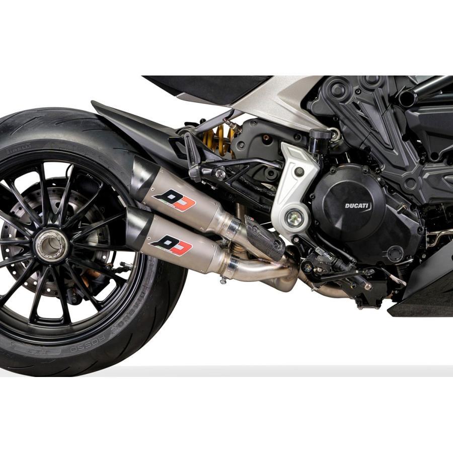 バイク マフラー QDエキゾースト ガンショット ツイン・チタン