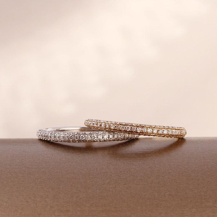 【レビューで送料無料】 送料無料 天然ダイヤモンド 0.45ct ハーフエタニティーリング 指輪K18WG(18金/ホワイトゴールド)K18YG(18金/イエローゴールド)レディース, nanamode 84c86931