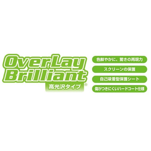 OverLay Brilliant for GARMIN Foretrex 401/301(2枚組) 液晶 保護 フィルム ガーミン サイクルコンピューター GPS 高光沢 visavis 02