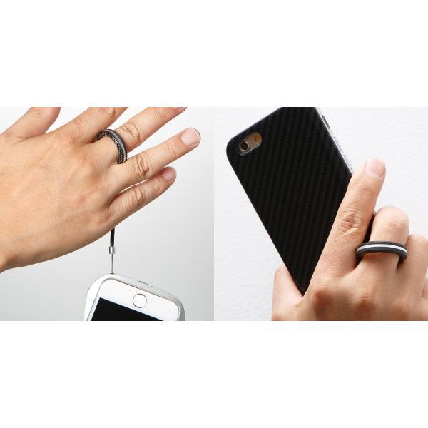 Finger Ring Strap Aluminum Combination スマホに最適 スマホ落下防止 ストラップ|visavis|06