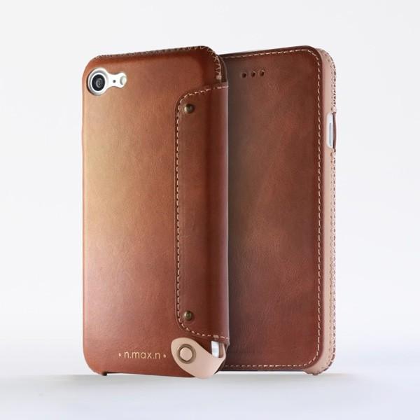 スマホケース iPhone 8 / iPhone 7 用  n.max.n New Minimalist Series 本革縫製ケース 画面カバー有り(Book型)タイプ for iPhone 8 / iPhone 7 / 本革|visavis|03