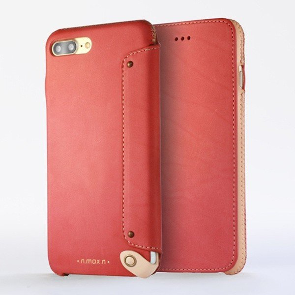 スマホケース iPhone 8 Plus / iPhone 7 Plus 用  n.max.n New Minimalist Series 本革縫製ケース (Book型)タイプ for iPhone 8 Plus / iPhone 7 Plus / 本革 visavis 03