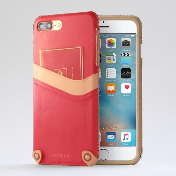 スマホケース iPhone 8 Plus / iPhone 7 Plus 用  n.max.n Mystery Series 本革縫製ケース 画面カバー無しタイプ for iPhone 8 Plus / iPhone 7 Plus / 本革 visavis 03
