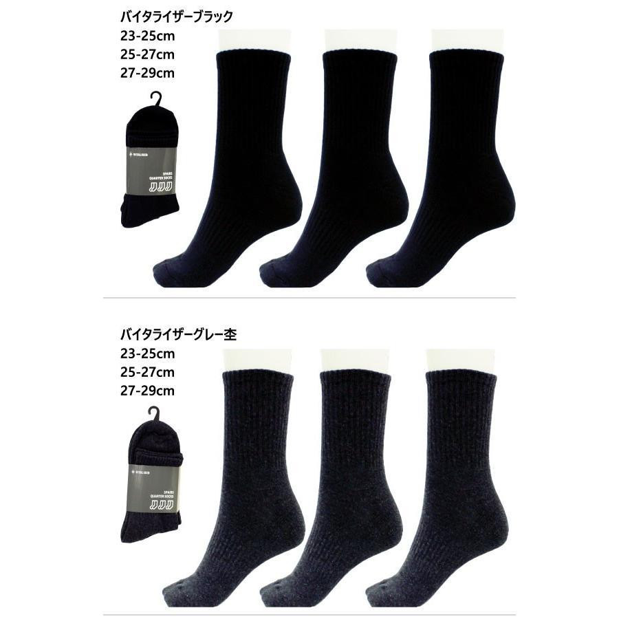 バイタライザー メンズ レディース ジュニア 靴下 ソックス 3足セット ブランド製 3Pセット 3足組 VEQS01 vitaliser 02