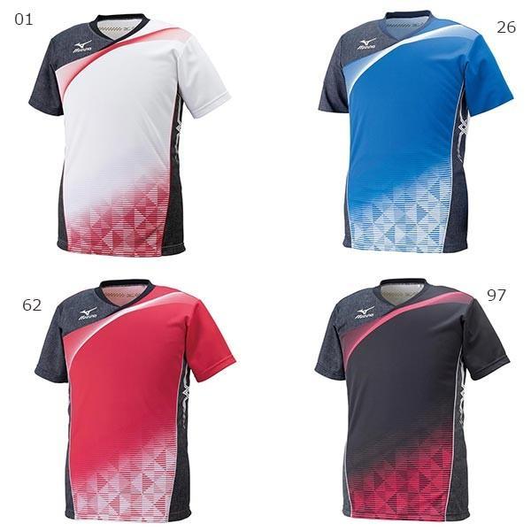 送料無料 ミズノ メンズ ゲームシャツ バレーボールウェア 半袖 ゲームウエア トップス V2JA6001