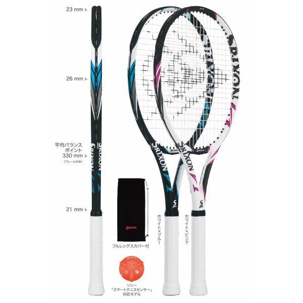 スリクソン SRIXON テニスラケット V1 SR21808 認定張人のガット張り無料 送料無料