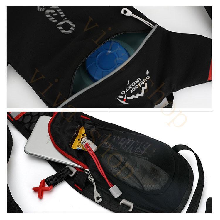 ランニングバッグ リュック 撥水加工 ハイドレーション サイクリングバッグ サイクルバッグ アウトドア 大容量 ジョギング 超軽量 ユニセックス バッグ viva-v1 14