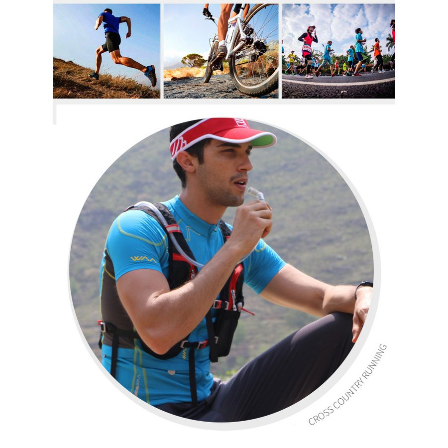 ランニングバッグ リュック 撥水加工 ハイドレーション サイクリングバッグ サイクルバッグ アウトドア 大容量 ジョギング 超軽量 ユニセックス バッグ viva-v1 07
