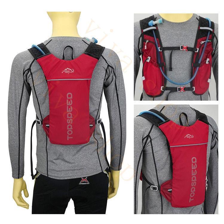 ランニングバッグ リュック 撥水加工 ハイドレーション サイクリングバッグ サイクルバッグ アウトドア 大容量 ジョギング 超軽量 ユニセックス バッグ viva-v1 09