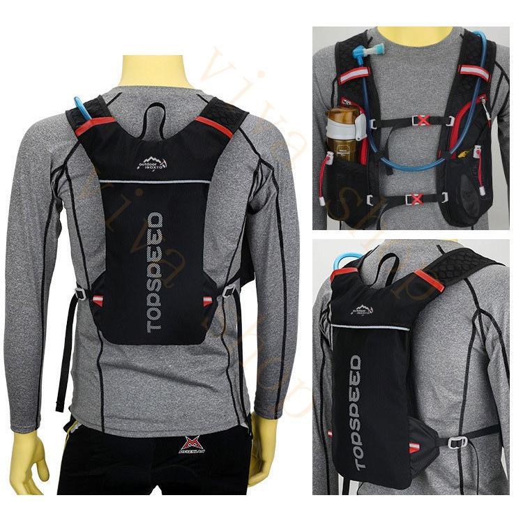 ランニングバッグ リュック 撥水加工 ハイドレーション サイクリングバッグ サイクルバッグ アウトドア 大容量 ジョギング 超軽量 ユニセックス バッグ viva-v1 10