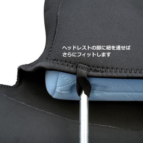 シートカバー 車用 座席シートカバー 防水 汎用 濡れたまま座れる 洗える ネオプレン生地 黒 1枚|vivaenterplise|06