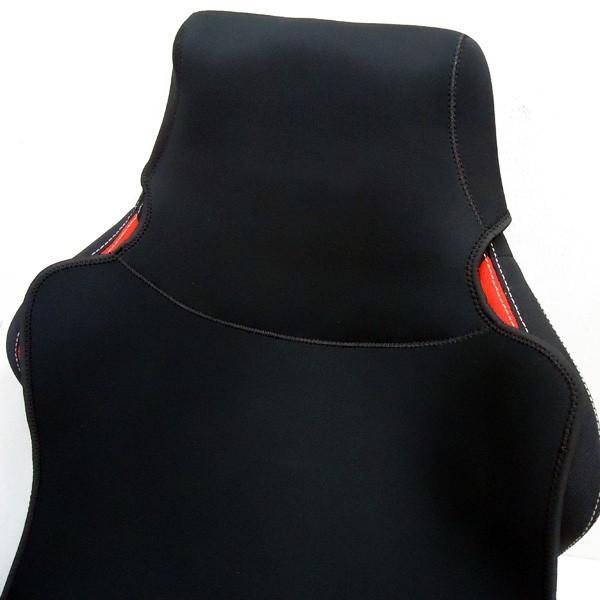シートカバー 車用 座席シートカバー 防水 汎用 濡れたまま座れる 洗える ネオプレン生地 黒 1枚|vivaenterplise|07