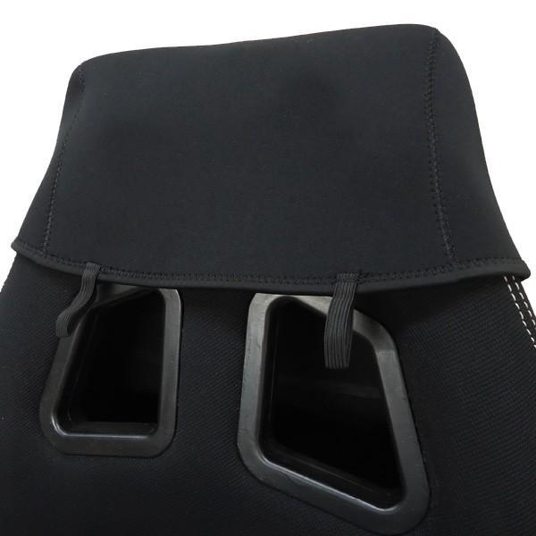 シートカバー 車用 座席シートカバー 防水 汎用 濡れたまま座れる 洗える ネオプレン生地 黒 1枚|vivaenterplise|08